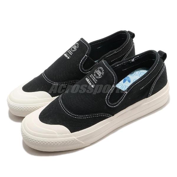 【海外限定】adidas 休閒鞋 Nizza RF Slip On 女鞋 帆布 基本款 懶人鞋 運動鞋【ACS】 EF1411