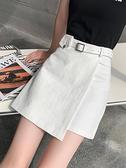 褲裙 白色短裙2021新款時尚牛仔半裙a字裙半身裙春秋 褲裙高腰裙子女夏 夏季新品