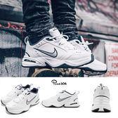 Nike Air Monarch IV 白 藍 銀 Dad Shoes 復古老爸鞋 皮革 男鞋 運動鞋【PUMP306】 415445-102