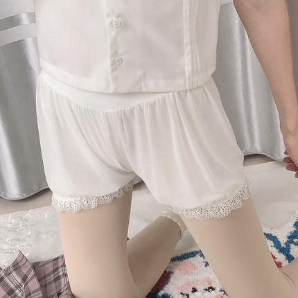 2021夏季jk安全褲白色外穿日系洛麗塔lolita防走光打底短褲女夏南瓜褲ins風洛麗塔可愛