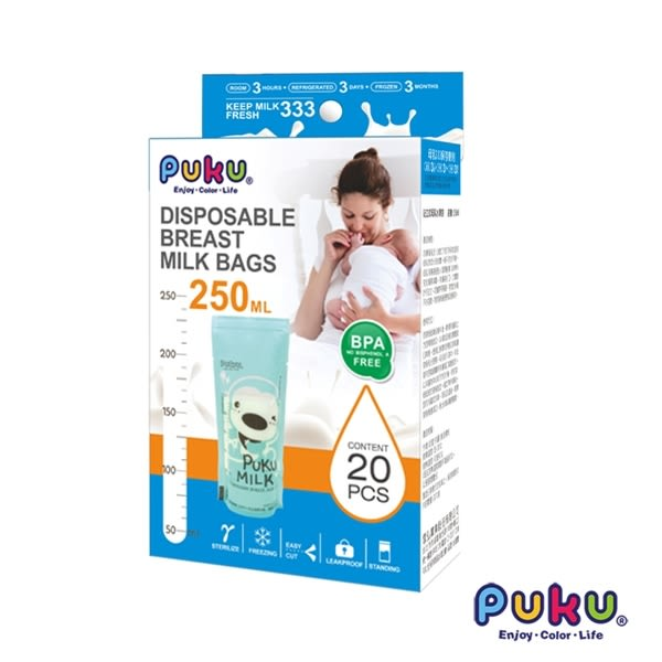 PUKU 站立式母乳儲存袋150ml-20枚入
