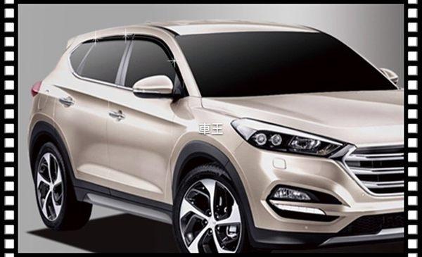 【車王小舖】現代 2016 Hyundai Tucson 晴雨窗 電鍍晴雨窗 六件組 韓國進口
