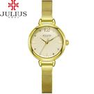 JULIUS 聚利時 為我著迷點鑽米蘭錶帶腕錶-金色/28mm 【JA-934B】