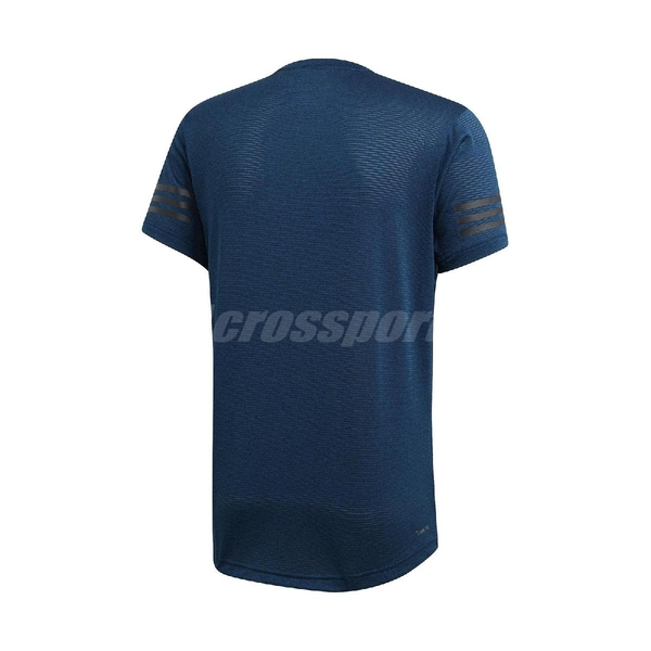 adidas 短袖T恤 FreeLift Climacool T 藍 黑 男款 常規直筒剪裁 【ACS】 DY9591