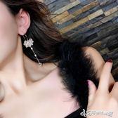 耳環 耳圈女氣質韓國簡約個性長款流蘇水晶吊墜耳墜氣質百搭耳環 Cocoa