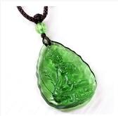 飾品古法琉璃項鍊 吊墜佛教綠度母佛牌尼泊爾佛像保平安掛飾 萬客城