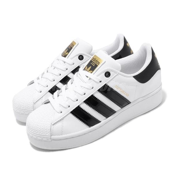 adidas 休閒鞋 Superstar Bold 白 黑 金標 厚底 增高 女鞋 小白鞋 【ACS】 FV3336