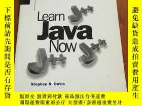 二手書博民逛書店LEARN罕見JAVA NOWY12800 STEPHEN R.