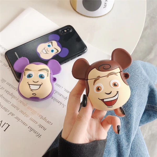 【SZ14】玩具總動員胡迪巴斯光年 airpods保護套airpods2保護套iphone apple蘋果耳機 airpods1保護套