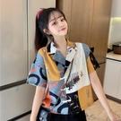 設計感小眾短款襯衫女夏小個子夏季新款法式一字肩短袖半袖上衣 依凡卡時尚
