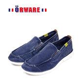 ORWARE-素面基本款帆布懶人鞋/男款 522004-07(藍)