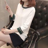 【618】好康鉅惠2018夏t恤女七分袖女圓領短袖半袖體恤