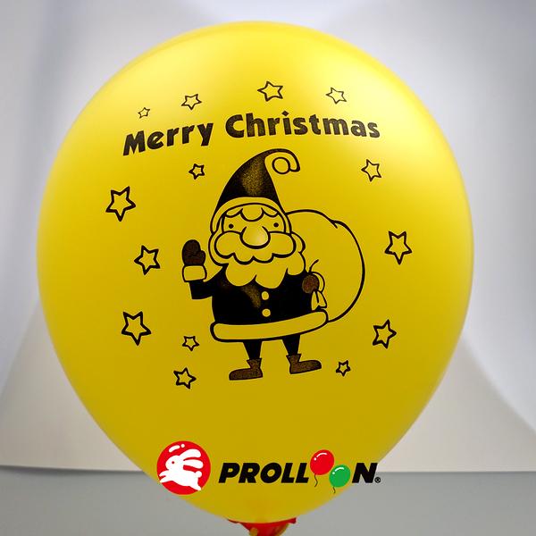 【大倫氣球】聖誕節印刷氣球-10吋圓形(糖果色) 一面一色印刷氣球 單顆 聖誕節派對 XMAS Party