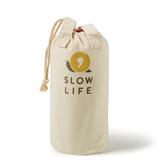 【 SLOW LIFE 】自然系棉質多功能收納袋 1717023 收納袋 束口袋 提袋 麻布 戶外 露營 瓦斯罐