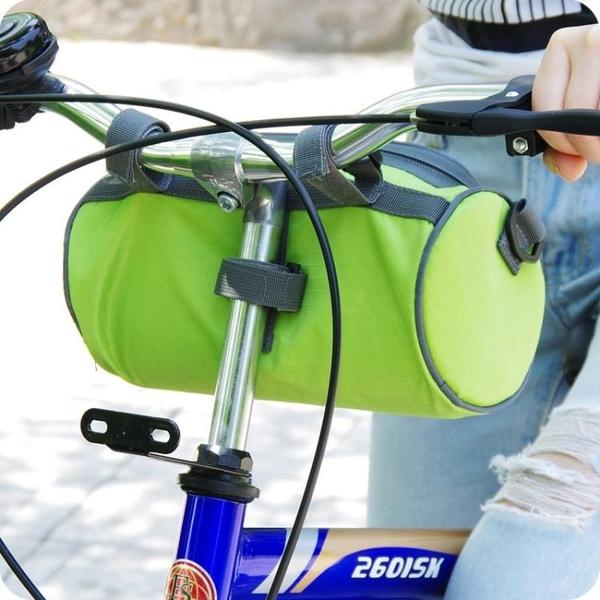帆布旅行車山地車防水馬鞍包前叉收納包裝車袋自行車包車頭包掛包【618優惠】