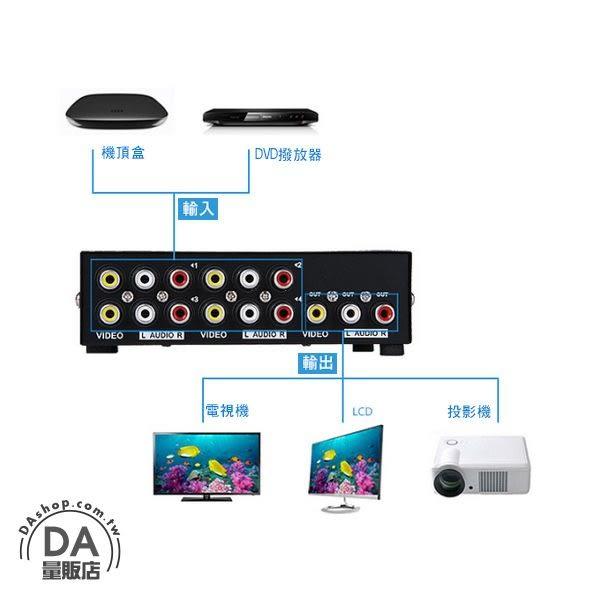 4進1出 手動 AV 影音 訊號 切換器 免外接電源(80-2461)