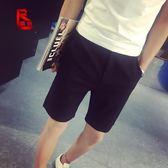 男士短褲夏季 休閒褲男修身短褲男夏天5分褲青年中褲西裝五分褲潮  巴黎街頭