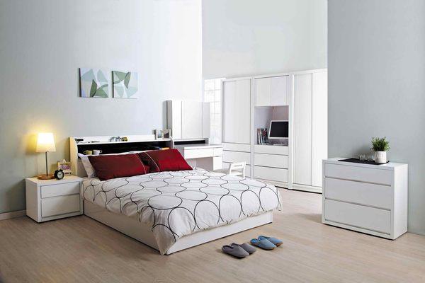 【森可家居】凡斯5尺床頭 7JX41-1 雙人床頭箱 白色 北歐鄉村風 收納功能