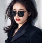 新款韓版太陽鏡女潮復古偏光開車圓長臉大框墨鏡 nm1138 【VIKI菈菈】
