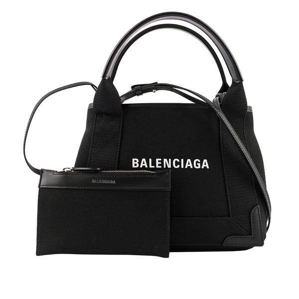 【BALENCIAGA】NAVY CABAS帆布二用包/子母包(黑色) XS 390346 2HH3N 1000