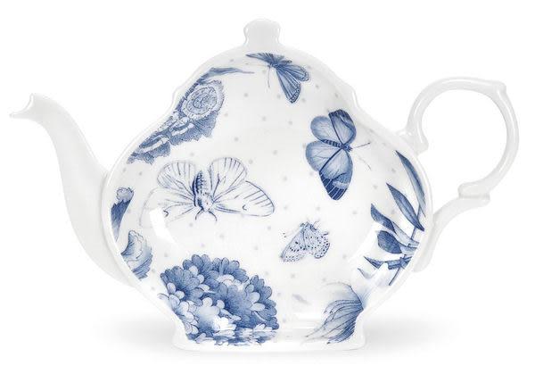 茶壺造型小碟-Portmeirion 植物藍系列