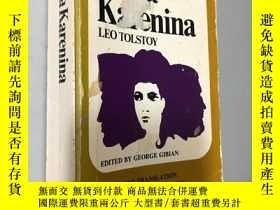 二手書博民逛書店ANNA罕見KARENINA THE MAUDE TRANSLATION BACKGROUNDS AND SOUR