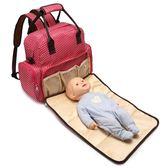 媽咪包雙肩多功能大容量外出背包韓版母嬰包孕婦包 ☸mousika