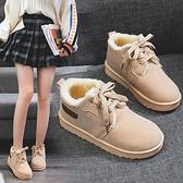 短靴子2019秋冬新款面包鞋加絨棉鞋百搭韓版學生短筒雪靴女鞋冬