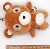 毛絨小熊鑰匙扣可愛呆呆熊掛件汽車鑰匙圈書包掛飾創意女生小禮物【中秋節85折】