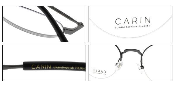 CARIN 光學眼鏡 RIGBY C1 (黑-霧槍) 韓星秀智代言 質感簡約鏡框 # 金橘眼鏡