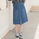 MUMU【P46365】前開岔牛仔半身裙。S-XL