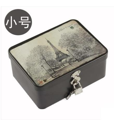 密碼箱小箱存錢箱收納儲物加厚密碼帶鎖家用保險箱小型子盒子鐵盒辦公 非凡小鋪