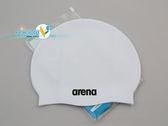 *日光部屋* arena (公司貨)/ACG-220-WHT 舒適矽膠泳帽