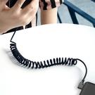 Mcdodo iPhone/Lightning充電線傳輸線 彎頭 LED 3A快充 黑膠彈簧系列 180cm 麥多多