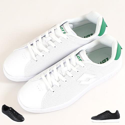男款 LOTTO經典潮流Q彈氣孔舒適止滑底 板鞋 網球鞋 休閒鞋 59鞋廊