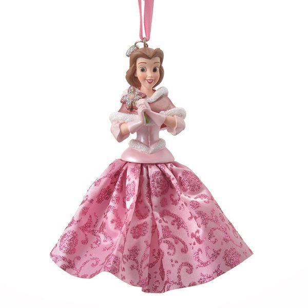 日本迪士尼限定美女與野獸貝兒吊飾掛件居家裝飾粉禮服678451通販屋