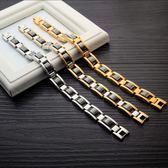 《 QBOX 》FASHION 飾品【B100N751】精緻個性型男百搭款磁石素面鈦鋼手鍊/手環
