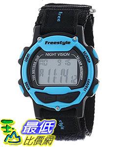 [106美國直購] Freestyle 手錶 Unisex 102282 B00DPE21GY Predator Blue Detail Digital Canvas Velcro Watch