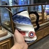 馬克杯 陶瓷杯個性潮流大容量馬克咖啡杯帶蓋勺男女家用早餐喝水杯子【全館免運八折】