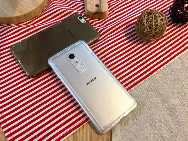 『手機保護軟殼(透明白)』夏普 SHARP M1 FS8001 5.5吋 矽膠套 果凍套 清水套 背殼套 保護套 手機殼