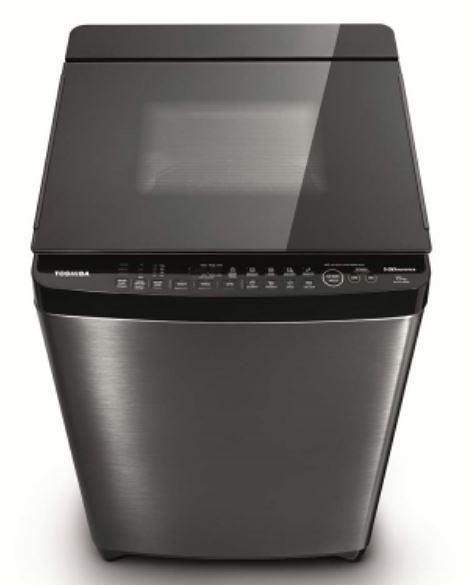 ◤鍍膜勁流双渦輪超變頻◢TOSHIBA DD 15公斤洗衣機 AW-DMG15WAG髮絲銀不鏽鋼