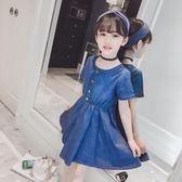 牛仔連衣裙夏天薄款中大童兒童裙子12歲女孩夏裝 LQ6049『夢幻家居』
