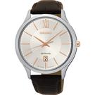 SEIKO 精工 城市簡約美學時尚手錶-玫瑰金時標x咖啡/42mm 7N42-0GG0K(SGEH55P1)