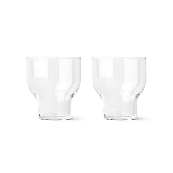 丹麥 Menu Stackable Glass 270cc 2pcs 晶漾玻璃系列 水杯 兩件組 - 中尺寸