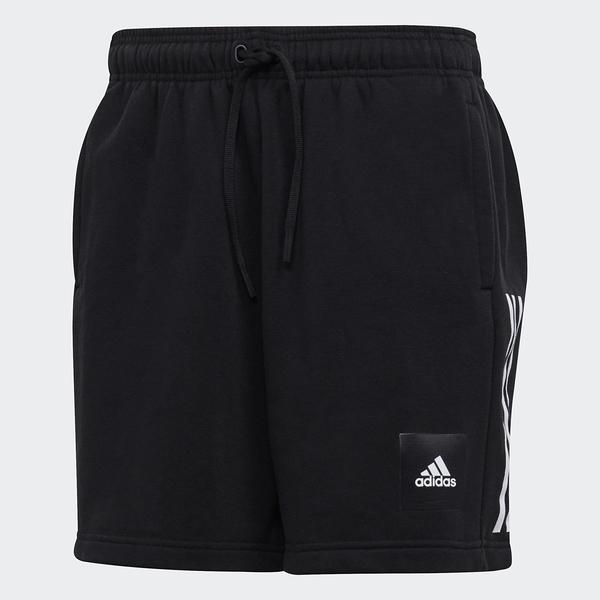 ADIDAS MUST HAVES BADGE 男裝 短褲 休閒 運動 訓練 口袋 網布內裡 黑【運動世界】FM6812