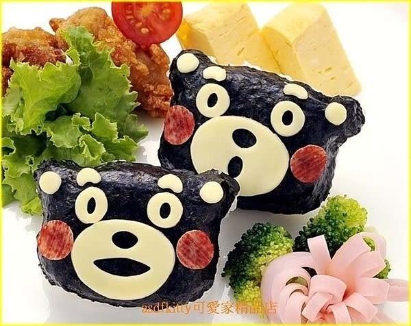 asdfkitty可愛家☆日本Arnest 熊本熊 飯糰模型含海苔切模起司壓模-保證日本正版商品
