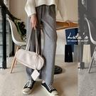 LULUS【A04200242】Y坑條針織長褲3色