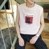背心 夏季潮牌chic無袖t恤男短袖韓版寬鬆ulzzang坎肩健身背心半袖上衣 8號店