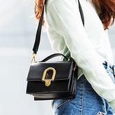 手提包-鎖扣韓版時尚優雅百搭女肩背包3色73sb47[巴黎精品]