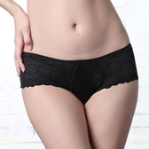 LADY 深線魅力系列 機能調整型 低腰平口褲(魔幻黑)